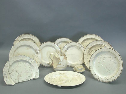 Unrestored creamware objects