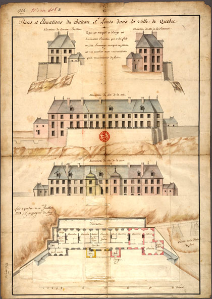The chateau according to Chaussegros de Lery