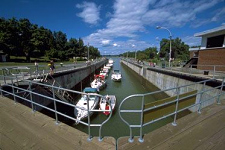 Lockage at Saint-Ours Canal