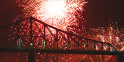 Fireworks over the Jacques Cartier Bridge