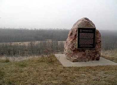 Historic Sites and Monuments Board plaque at Frenchman Butte