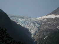 View of Irene Glacier from Finnegan's Point Campground