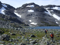 View of Chilkoot Pass in July
