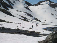 Early Summer view of Chilkoot Pass