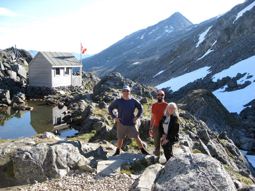 Hikers at Chilkoot Pass