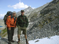 Parks Canada and National Park Service patrol staff at Chilkoot Pass