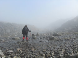 Wet conditions between Chilkoot Pass and Happy Camp