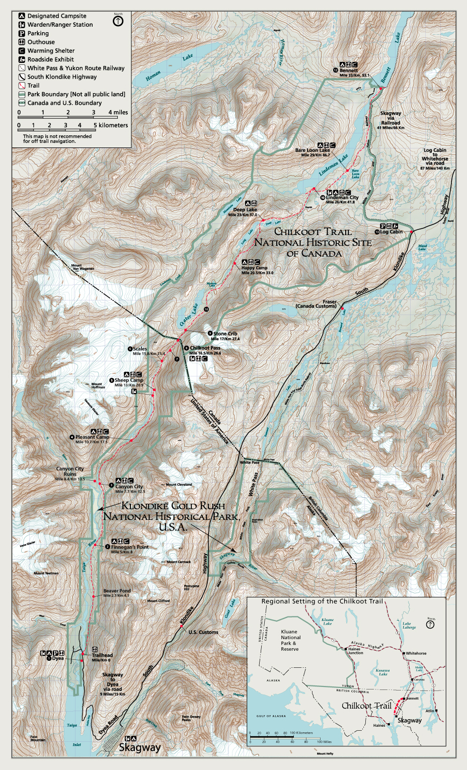 Map of Chilkoot Trail