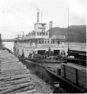 Historical photo of the SS Keno
