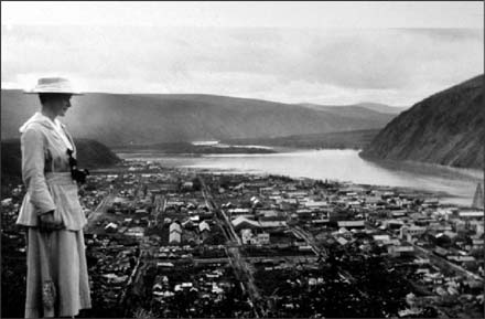 Historic panoramic view of Dawson