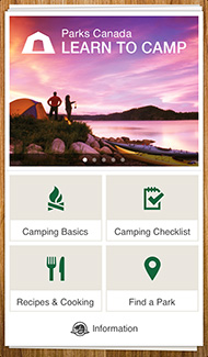 Learn To Camp Mobile App Screenshot
