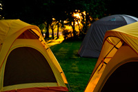 Tents used at the Learn-to Camp event at the Rideau Canal