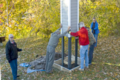 The Kawartha Lakes SAR Regional Team built and installed chimney swift towers to compensate for nesting habitat lost