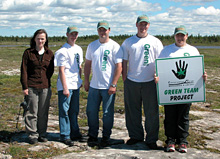 Volunteers helping raise awareness of the plants of the limestone barrens