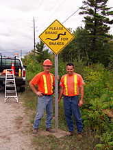 Working with local Georgian Bay authorities to mitigate road kill