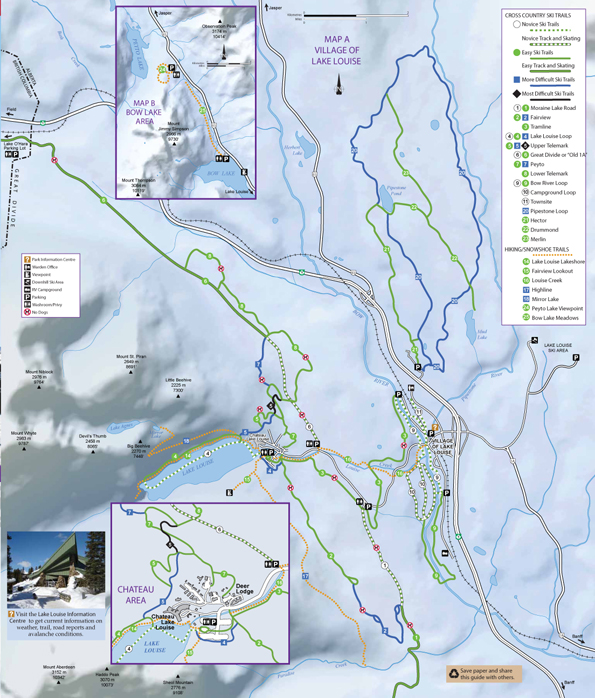 Cross Country Ski Trails - Village of Lake Louise - Map