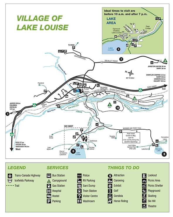 Map of the Lake Louise area