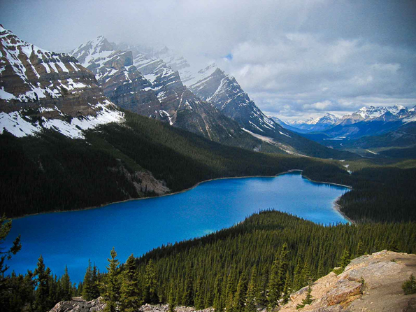 Bow Summit and Peyto Lake