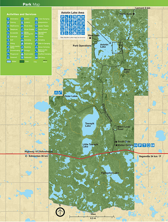 Map of Elk Island National Park