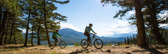 Biking in Jasper