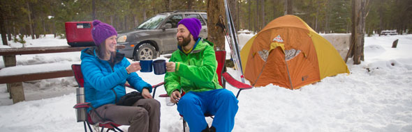 Winter camping © Parks Canada / R. Bray