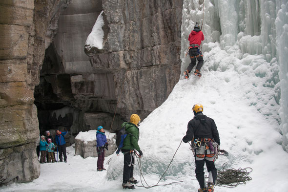 Maligne Canyon in the Winter