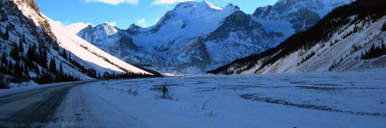 Wintertime on the Icefields Parkway