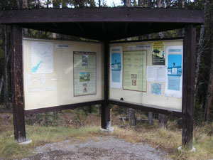 Interpretive panel in the valley