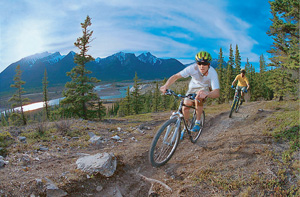Mountain biking on Jasper's extensive trail system