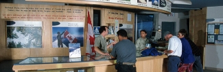 Icefield Centre Information Counter, Jasper National Park