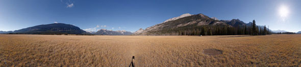Panoramic photograph of the Jasper Airstrip © Rogier Gruys