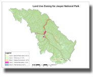 Land Use Zoning for Jasper National Park