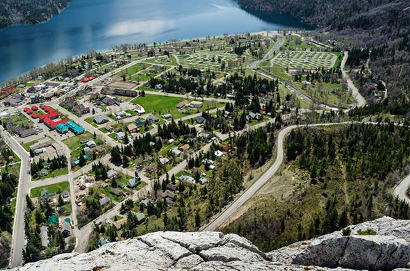 Aerial view of Townsite Campground