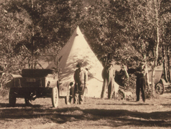 Early camping in Waterton