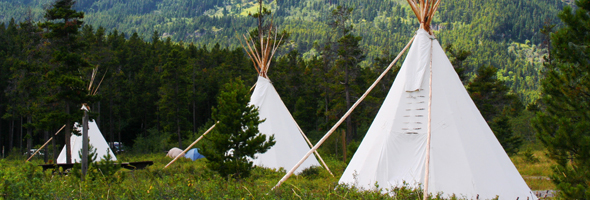 Tipi Camping at Crandell Mountain Campground