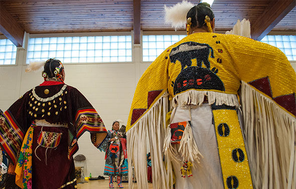 Dancers at the Blackfoot Arts and Heritage Festival