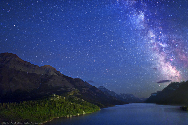 Milky Way over Waterton Lakes National Park