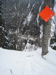 Exit route for Tupper Winter Restricted Area