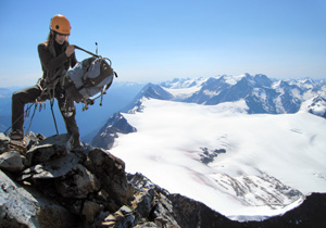 Mountaineer on Mount Sir Donald