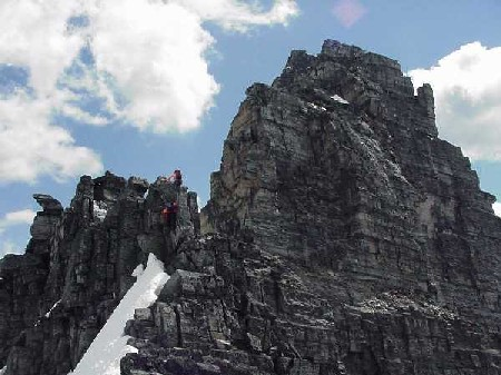 Mountaineers on Mount Tupper's West Ridge