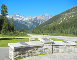 View from the Summit of Rogers Pass picnic area