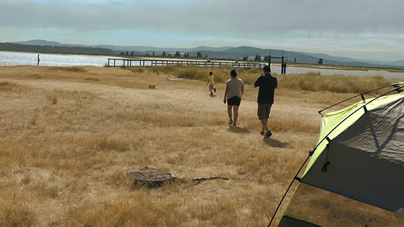 Camping at Sidney spit - 