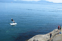 Whale watching at East Point, Saturna Island