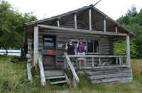 Geocachers at Roesland, North Pender Island