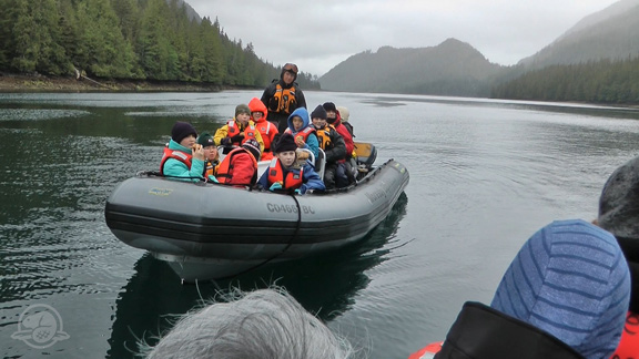 Discovering Lyell Island - On June 6th, Gwaii Haanas brought fifteen island youth to see the Lyell Island stream restoration. Equipped with video cameras, the students learned how to monitor the health of streams before getting their hands dirty and had a chance to use the turfer jack themselves.