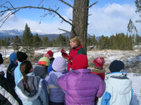 Engaging youth in the Redstreak Restoration area © Parks Canada
