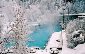 Radium Hot Springs in the winter © Parks Canada
