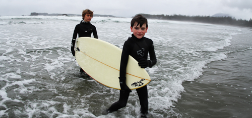 Surfing at Long Beach