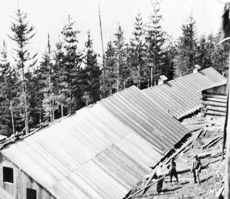 Buildings, Mount Revelstoke Internment Camp, 1915