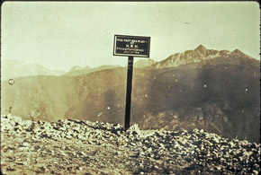 """This Post Placed by His Royal Highness The Duke of Connaught, July 28, 1916, 3921 Feet"""